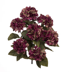 "Artificial 20"" Hydrangea Bush - House of Silk Flowers®  - 6"