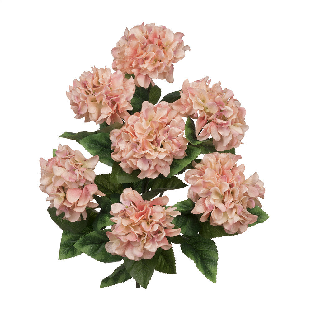 "Artificial 20"" Hydrangea Bush - House of Silk Flowers®  - 8"