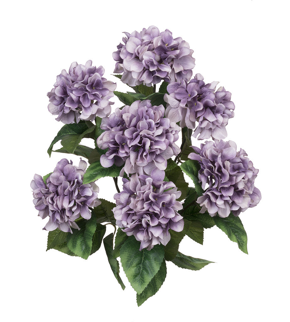 "Artificial 20"" Hydrangea Bush - House of Silk Flowers®  - 10"