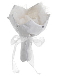 "9.5"" Cream Satin Bouquet Holder - House of Silk Flowers®"