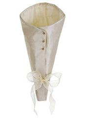 "Ivory 13"" Satin Bouquet Wrap - House of Silk Flowers®"