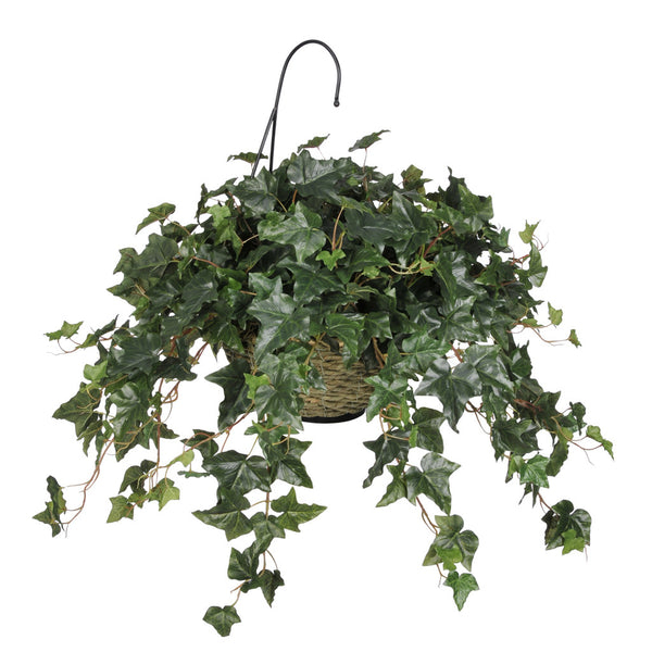 Artificial English Ivy Hanging Basket
