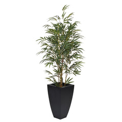 Artificial 5ft Yellow Bamboo in Planter - House of Silk Flowers®  - 1