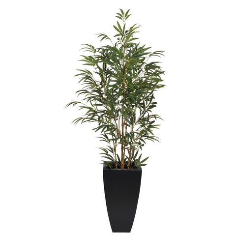 Artificial 5ft Yellow Bamboo in Planter - House of Silk Flowers®  - 2