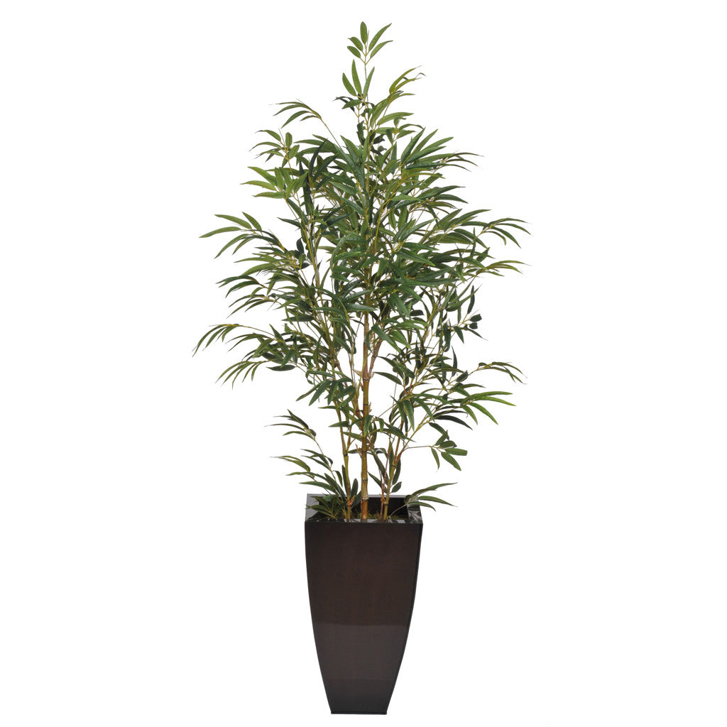 Artificial 5ft Yellow Bamboo in Planter - House of Silk Flowers®  - 4