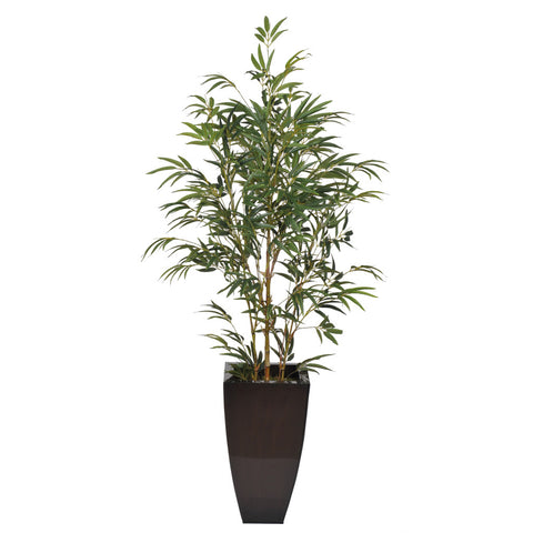 Artificial 5-foot Yellow Bamboo in Planter
