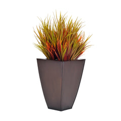 Artificial Autumn Vanilla Grass in Zinc - House of Silk Flowers®  - 1
