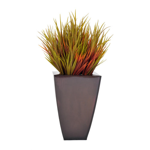 Artificial Autumn Vanilla Grass in Zinc - House of Silk Flowers®  - 2