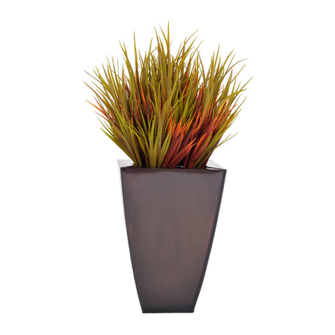 Artificial Autumn Vanilla Grass in Zinc