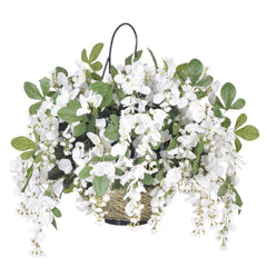 Artificial Wisteria Hanging Basket - House of Silk Flowers®  - 3