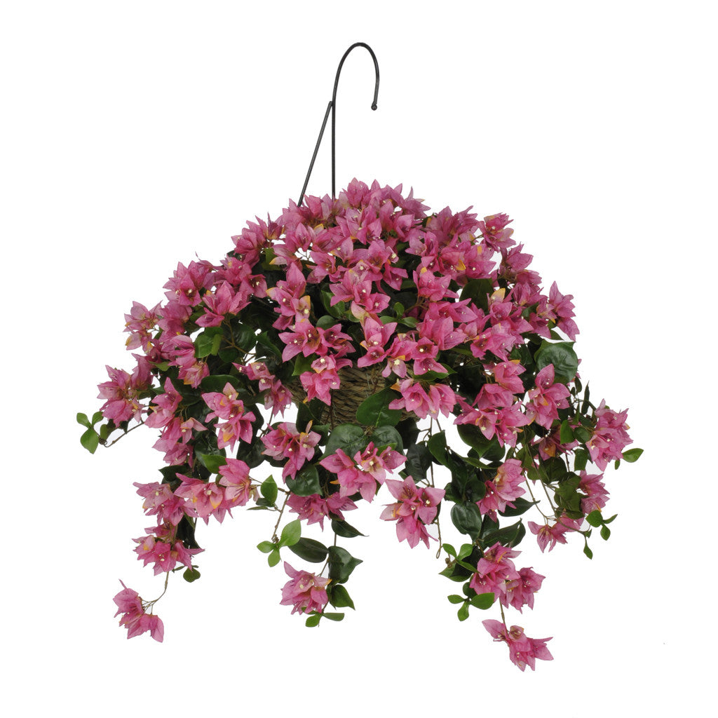 Artificial Bougainvillea Hanging Basket - House of Silk Flowers®  - 1