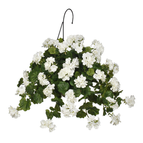 Artificial Geranium Hanging Basket - House of Silk Flowers®  - 2
