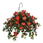 Artificial Hibiscus Hanging Basket - House of Silk Flowers®  - 4