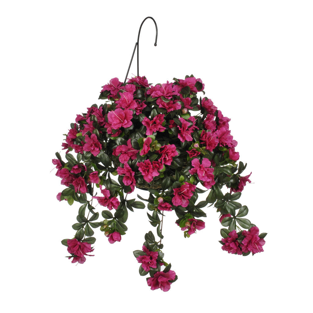 Artificial Azalea Hanging Basket House Of Silk Flowers 174