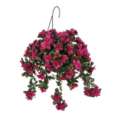 Artificial Azalea Hanging Basket - House of Silk Flowers®  - 1