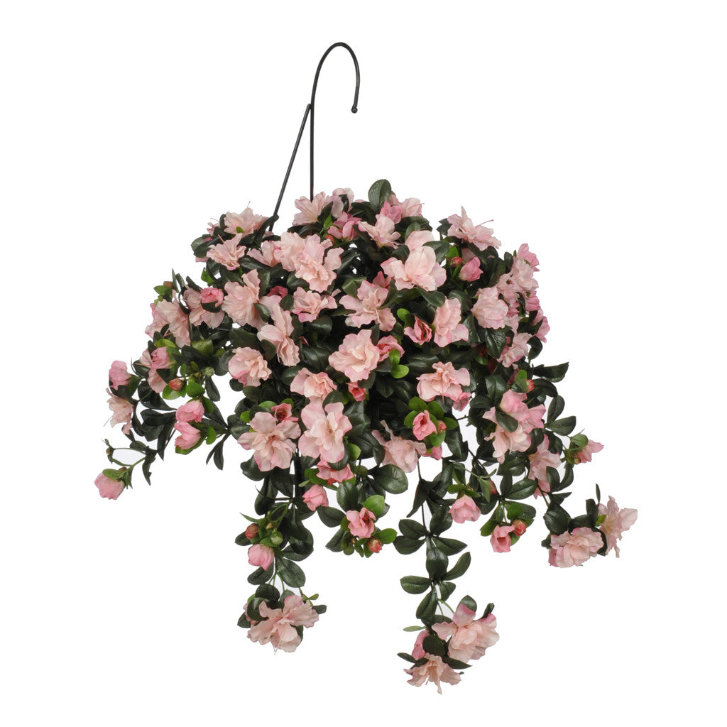 Artificial Azalea Hanging Basket - House of Silk Flowers®  - 2