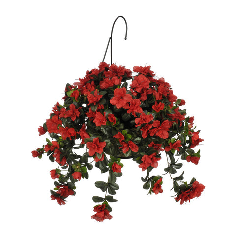 Artificial Azalea Hanging Basket