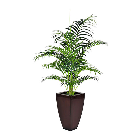 Artificial 5-foot Areca Palm in Gloss Brown Zinc