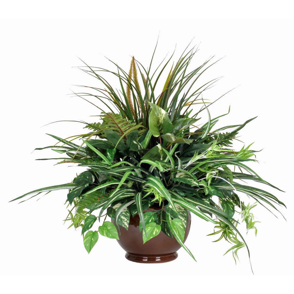Artificial Pothos Mixed Greenery Centerpiece - House of Silk Flowers®  - 2