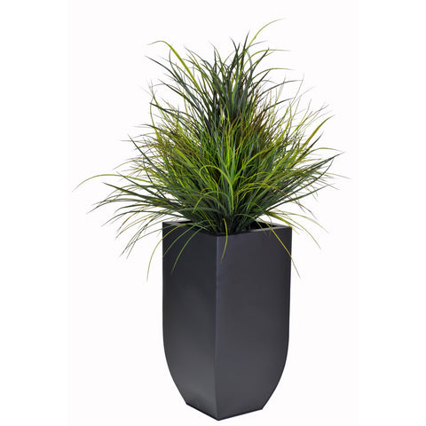 Artificial Ornamental Beach Grass in Square Zinc Planter - House of Silk Flowers®  - 5
