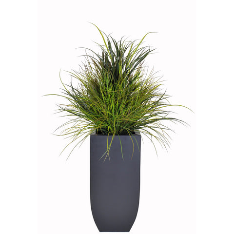 Artificial Ornamental Beach Grass in Square Zinc Planter - House of Silk Flowers®  - 6