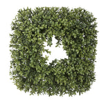 Artificial Boxwood Square Wreath - House of Silk Flowers®  - 1