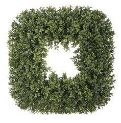 Artificial Boxwood Square Wreath - House of Silk Flowers®  - 2