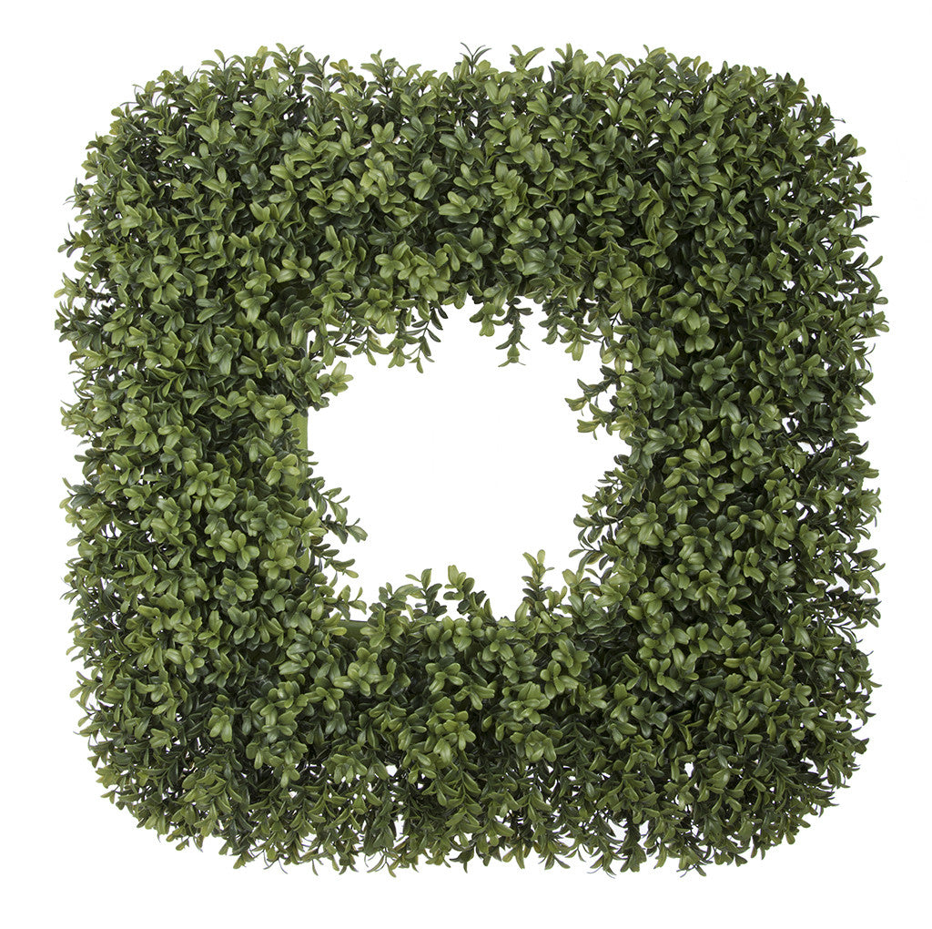 Artificial Boxwood Square Wreath - House of Silk Flowers®  - 3