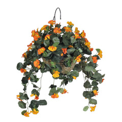Artificial Nasturtium Hanging Basket - House of Silk Flowers®  - 1