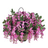 Artificial Wisteria Hanging Basket - House of Silk Flowers®  - 5