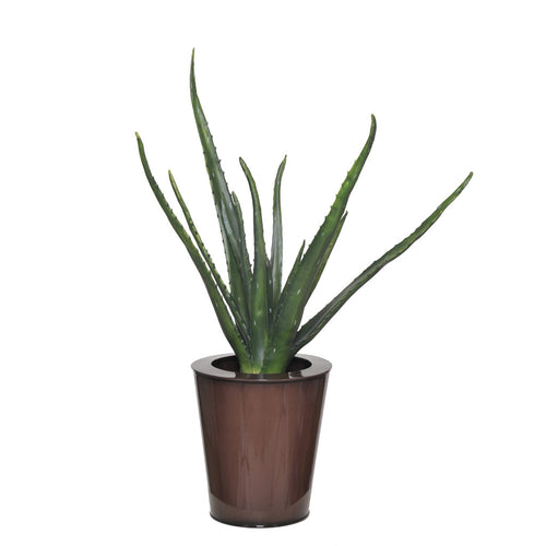 Artificial 2.5ft Aloe Plant in Zinc Planter - House of Silk Flowers®
