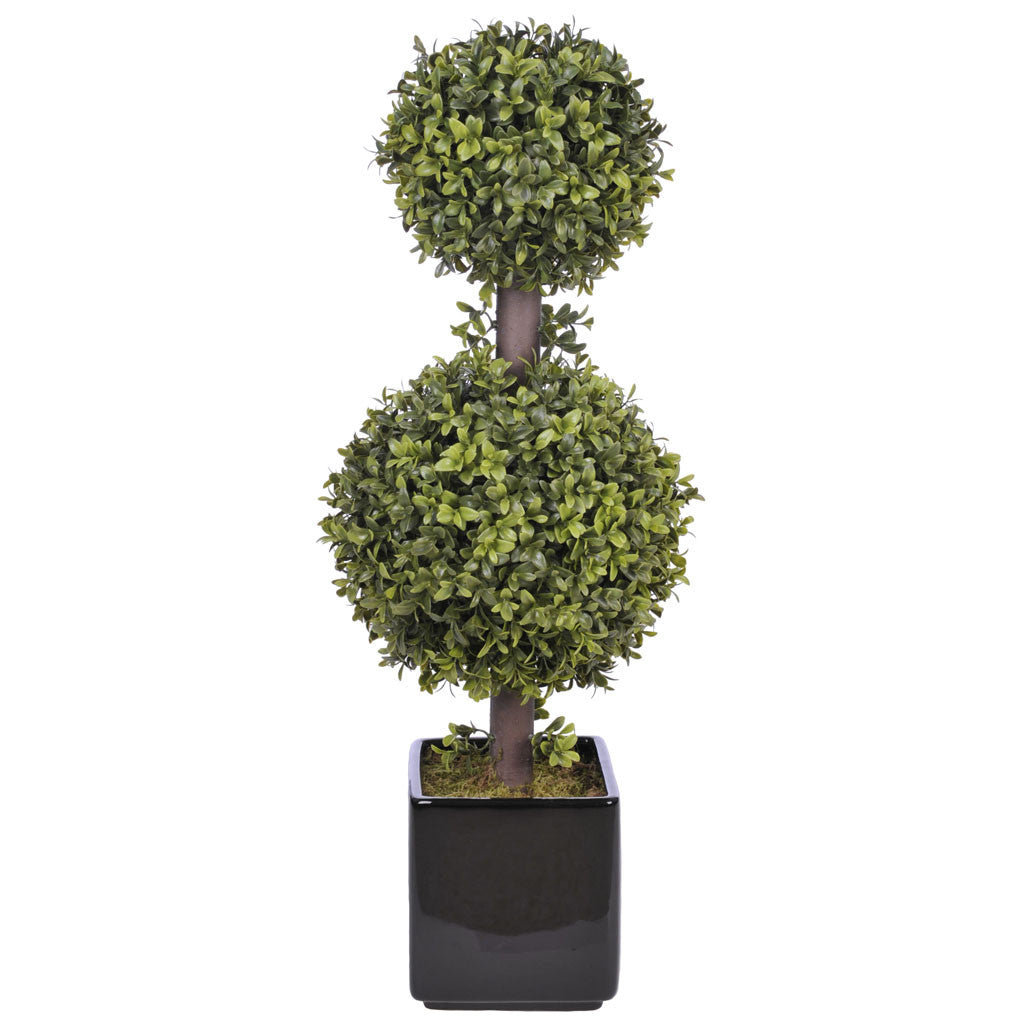 Artificial 2' Double Ball Topiary in Pot - House of Silk Flowers®  - 12