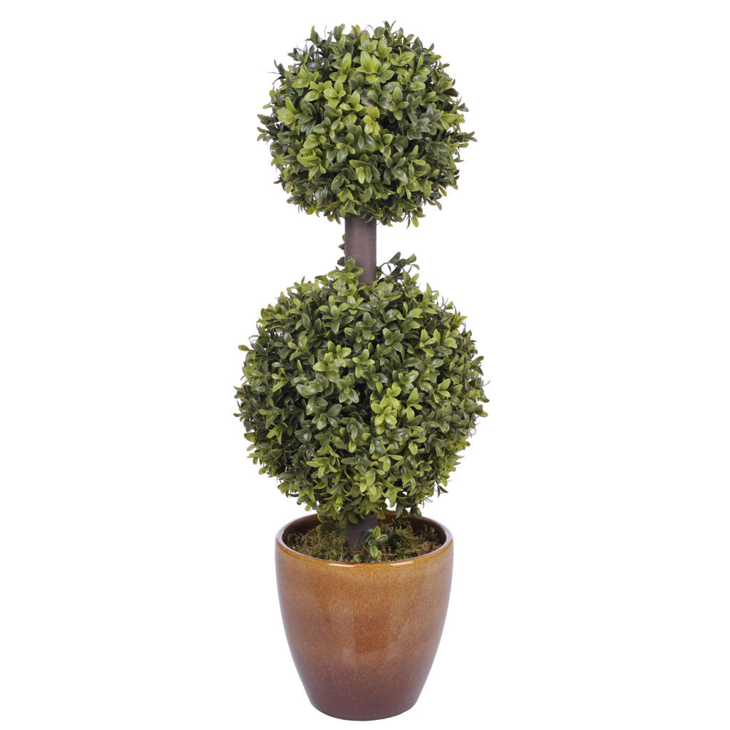 Artificial 2' Double Ball Topiary in Pot - House of Silk Flowers®  - 2