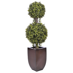 Artificial 2' Double Ball Topiary in Pot - House of Silk Flowers®  - 4
