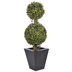 Artificial 2' Double Ball Topiary in Pot - House of Silk Flowers®  - 5