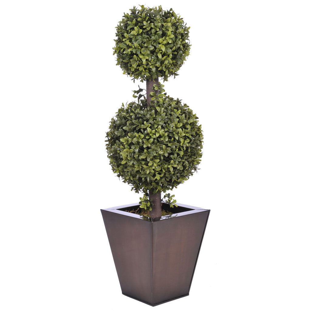 Artificial 2' Double Ball Topiary in Pot - House of Silk Flowers®  - 6