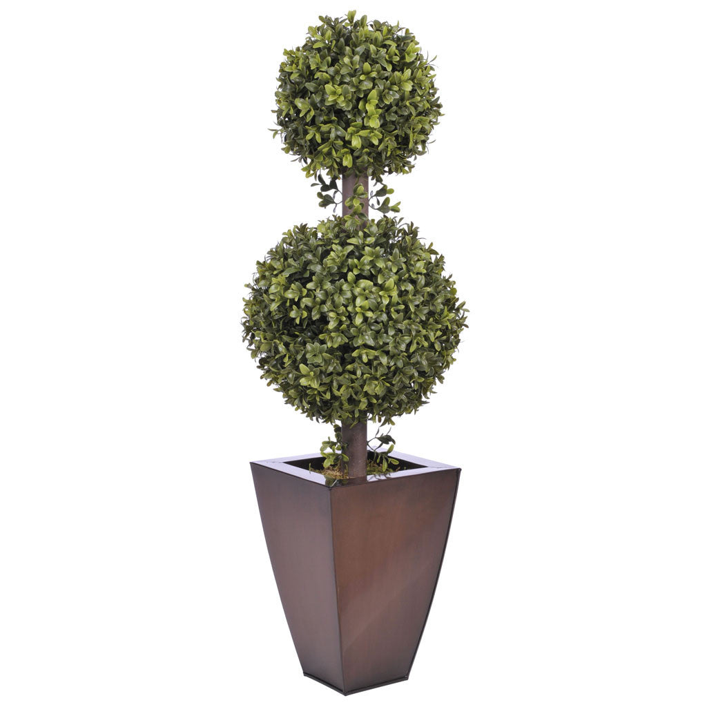 Artificial 2 Double Ball Topiary In Pot House Of Silk