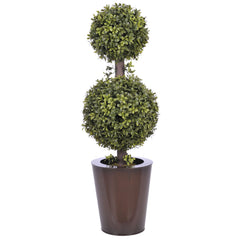 Artificial 2' Double Ball Topiary in Pot - House of Silk Flowers®  - 10