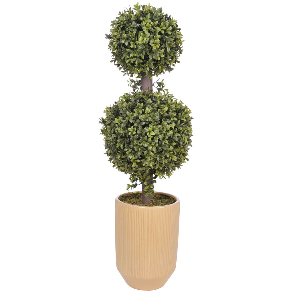 Artificial 2' Double Ball Topiary in Pot - House of Silk Flowers®  - 13