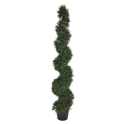 Artificial Rosemary Spiral Topiary