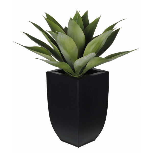 Artificial Tabletop Agave in Zinc Vase