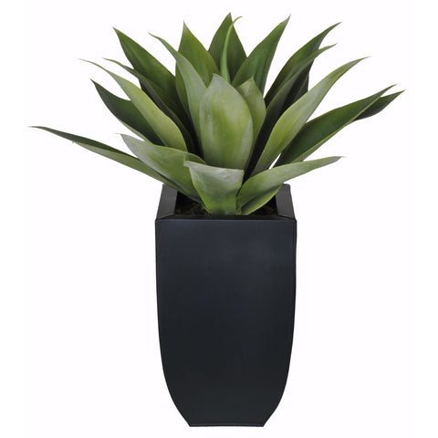 Artificial Tabletop Agave in Zinc Vase - House of Silk Flowers®  - 2