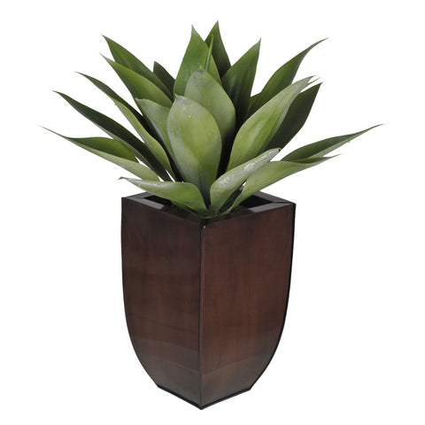 Artificial Tabletop Agave in Zinc Vase - House of Silk Flowers®  - 3
