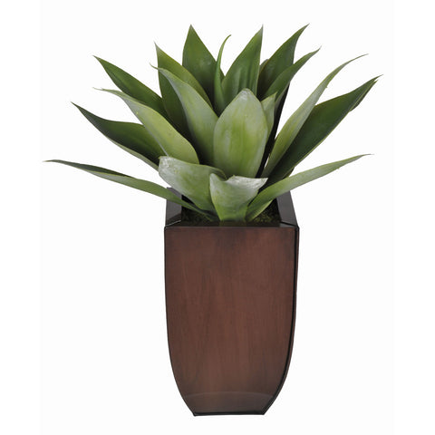 Artificial Tabletop Agave in Zinc Vase - House of Silk Flowers®  - 4