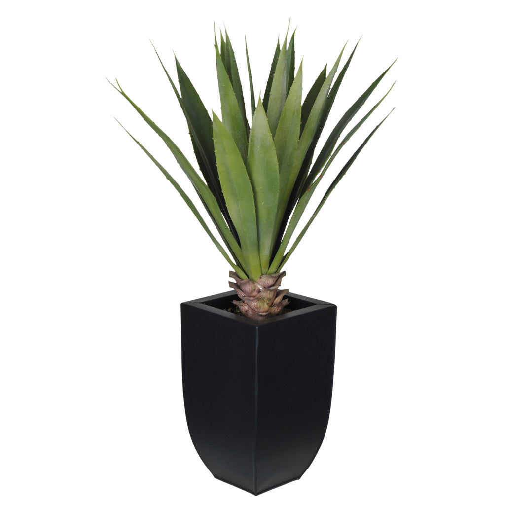 Artificial Tabletop Yucca in Zinc Vase - House of Silk Flowers®  - 1