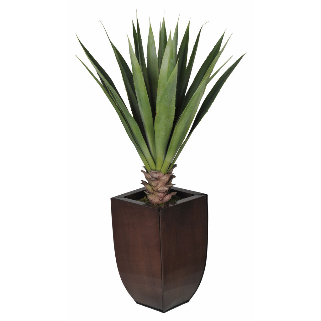 Artificial Tabletop Yucca in Zinc Vase - House of Silk Flowers®  - 3