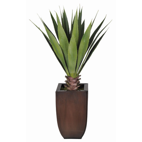 Artificial Tabletop Yucca in Zinc Vase - House of Silk Flowers®  - 4
