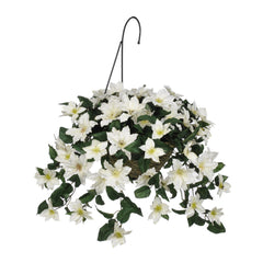 Artificial Clematis Hanging Basket - House of Silk Flowers®  - 3