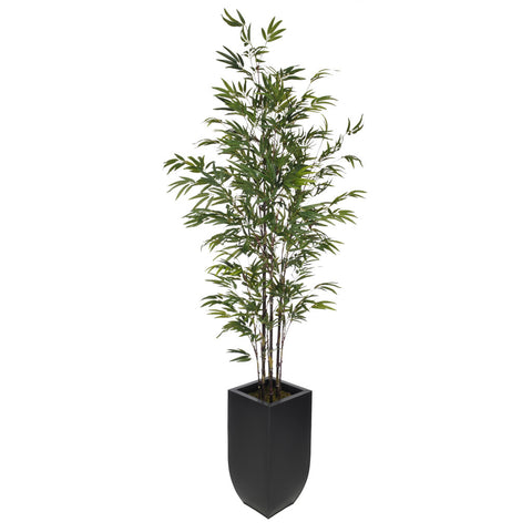 Artificial 7.5ft Black Bamboo Tree in Large Zinc - House of Silk Flowers®  - 1