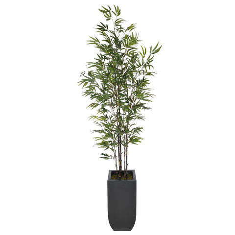 Artificial 7.5ft Black Bamboo Tree in Large Zinc - House of Silk Flowers®  - 2